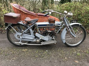 1911 Clyno 650cc V Twin Veteran Motorcycle. For Sale (picture 1 of 10)