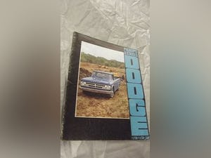 0000 DODGE ORIGINAL RARE FACTORY SALES BROCHURES AND SPECS For Sale (picture 7 of 12)