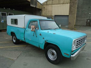 DODGE D200 CUSTOM LWB 5.9 V8 LHD PICK UP(1973)TURQUOISE RUNS For Sale (picture 1 of 10)