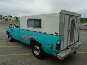 DODGE D200 CUSTOM LWB 5.9 V8 LHD PICK UP(1973)TURQUOISE RUNS For Sale (picture 3 of 10)