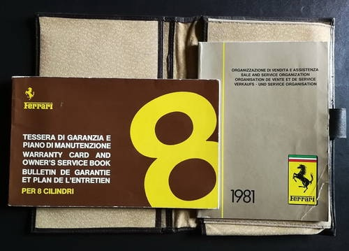 1980 ORIGINAL  WARRANTY CARD AND OWNER'S SERVICE BOOK For Sale (picture 1 of 6)