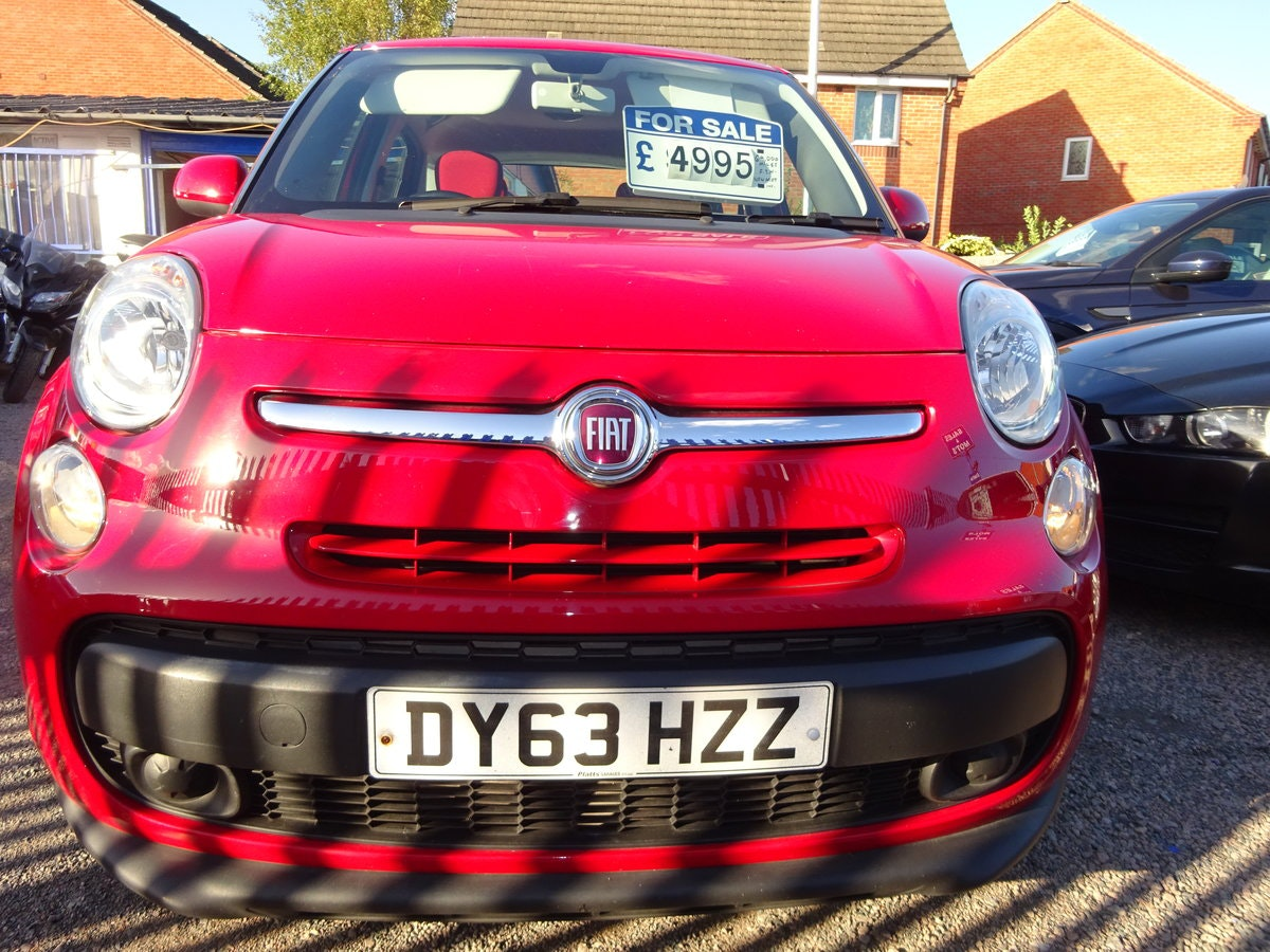 FIAT 500 L  MPV RED DIESEL 70,000 MILES F.S.H NEW MOT 2013  For Sale (picture 1 of 6)