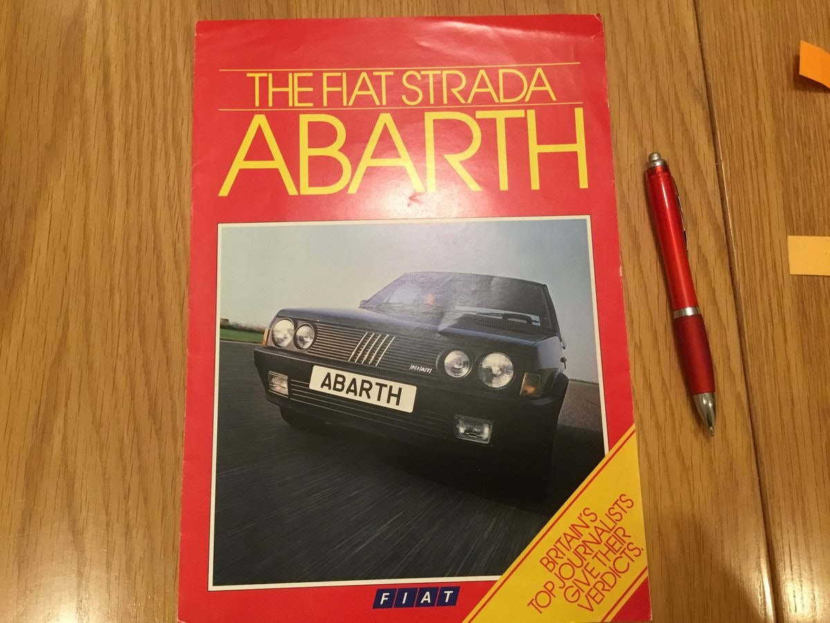 1985 Fiat Strada Abarth brochure For Sale (picture 1 of 1)