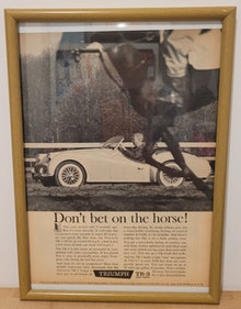 Picture of 1985 Original 1960 Triumph TR3 Framed Advert For Sale