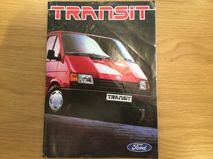 1986 Ford Transit range brochure For Sale (picture 2 of 2)