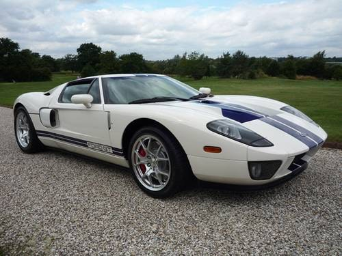 2005 Ford GT - White-Blue/Blk - 1 Owner! For Sale (picture 1 of 6)