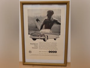 1985 Original 1959 Ford Zodiac Convertible Framed Advert For Sale (picture 1 of 3)