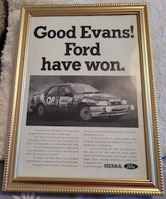 Picture of 1962 Original 1991 Ford Sierra Cosworth Framed Advert For Sale