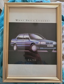 Picture of 1987 Original 1986 Rover 200 Framed Advert For Sale