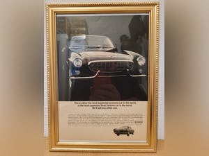 1963 Original 1964 Volvo P1800S Framed Advert For Sale (picture 1 of 3)