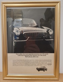 Picture of 1963 Original 1964 Volvo P1800S Framed Advert For Sale