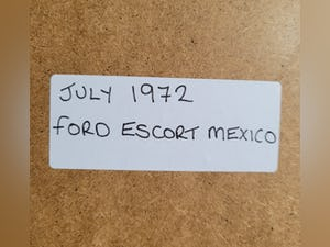 1990 Original 1972 Ford Escort Mexico Framed Advert For Sale (picture 2 of 3)