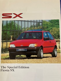 Picture of Ford Fiesta SX fold out pamphlet. For Sale