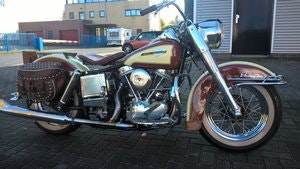 Picture of Harley davidson 1965 panhead . SOLD