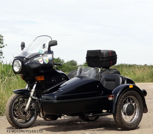 1995 Honda CB750 with nearly new sidecar, MOTed and running SOLD (picture 5 of 6)