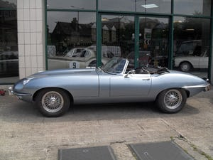 1969 Jaguar E Type Roadster owned by inventor Trevor Baylis For Sale (picture 1 of 7)