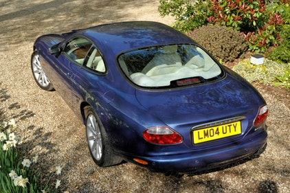 Picture of 2004 Ultraviolet Blue with Ivory leather 4.2 V8 XK8 Coupe For Sale