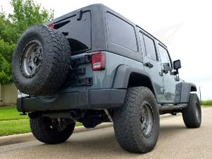 2014 Jeep Wrangler Unlimited Sport Lifted + mods Grey $34.9k For Sale (picture 3 of 12)