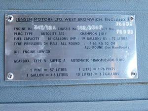 1965 JENSEN CV8 MK 3, READY TO USE For Sale (picture 11 of 25)
