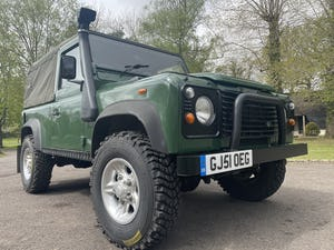 2002 Land Rover Defender 90 TD5 Soft Top For Sale (picture 1 of 9)