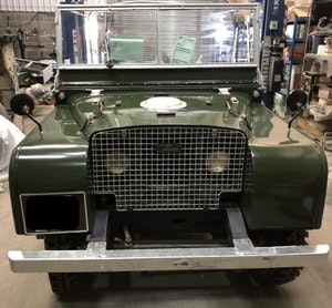 "Picture of 1950 Land Rover Series 1, 80"" Lights behind the grill. For Sale"