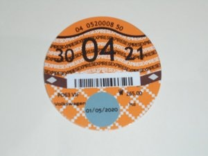 Picture of Road Tax Disc 2021. SOLD