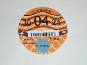Road Tax Disc 2021. For Sale (picture 1 of 1)
