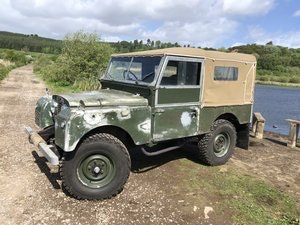 Picture of 1955 Land Rover Series 1 soft top. Galvanised bulkhead. Original SOLD