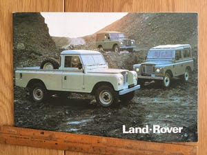 1988 Land Rover brochure For Sale (picture 1 of 1)