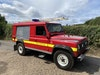 Landrover defender 110 fire engine rescue vehicle
