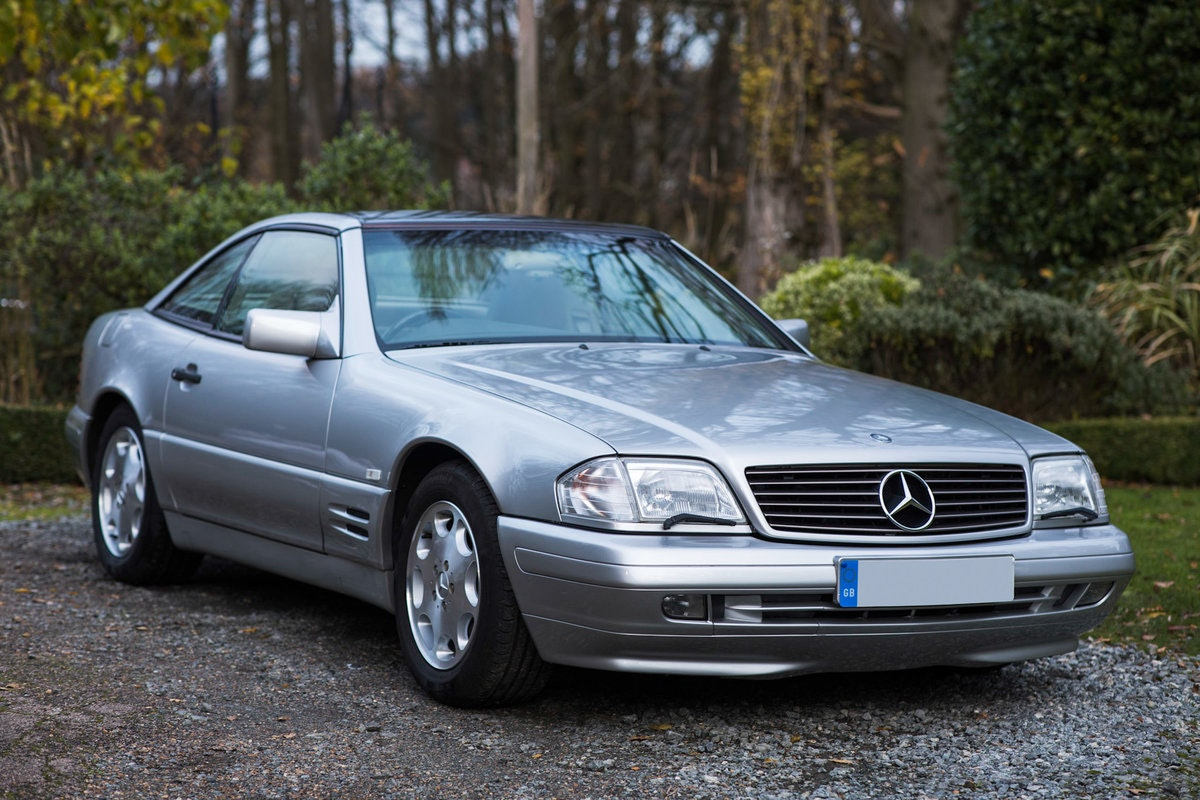 1996 Mercedes SL500 33k miles Panoramic roof For Sale (picture 5 of 12)