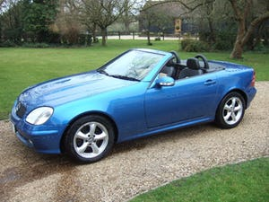 2001 Mercedes SLK320 Convertible, Lazulite Blue For Sale (picture 1 of 12)