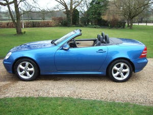 2001 Mercedes SLK320 Convertible, Lazulite Blue For Sale (picture 3 of 12)