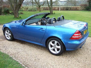 2001 Mercedes SLK320 Convertible, Lazulite Blue For Sale (picture 5 of 12)