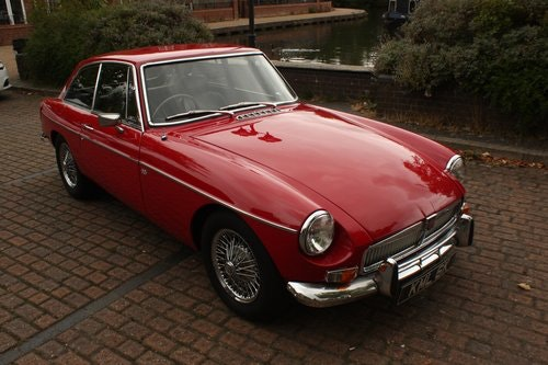 1972 MGB GT - Red, Chrome Wires - older professional resto SOLD (picture 1 of 6)
