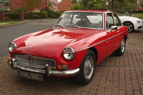 1972 MGB GT - Red, Chrome Wires - older professional resto SOLD (picture 2 of 6)