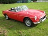 Picture of 1970 MGB ROADSTER FLAME RED, WIRE WHEELS, O/DRIVE, 42K! SOLD