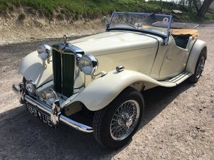 Picture of 1950 MG TD show standard SOLD