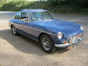 Picture of 1967 MGB GT. MINERAL BLUE. WEBASTO SUNROOF. CHROME WIRES. SOLD