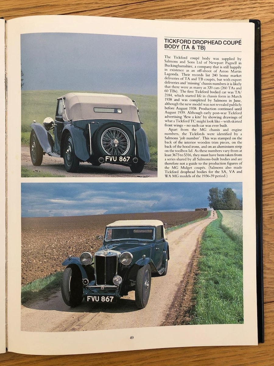 1939 MG TA Tickford Drophead Coupe For Sale (picture 4 of 6)