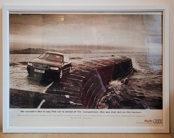 Picture of 1976 Original 1997 Audi S8 Quattro Framed Advert For Sale