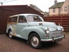 Picture of 1967 MORRIS MINOR 1000 TRAVELLER. NAMED DARCY! SMOKE GREY. SOLD