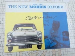 Morris Oxford Excellent sales brochure For Sale (picture 1 of 1)