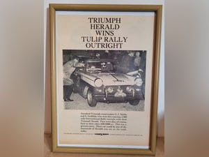1982 Original 1961 Triumph Herald Framed Advert  For Sale (picture 1 of 3)