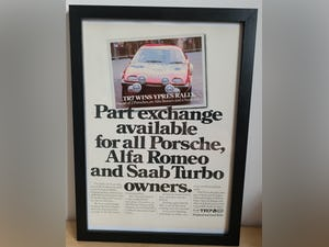 1982 Original 1980 Triumph TR7 Framed Advert For Sale (picture 1 of 3)