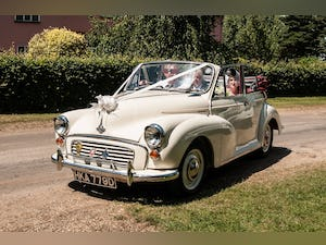 1966 MORRIS MINOR CONVERTIBLE WEDDING CAR IN SUFFOLK For Hire (picture 1 of 9)