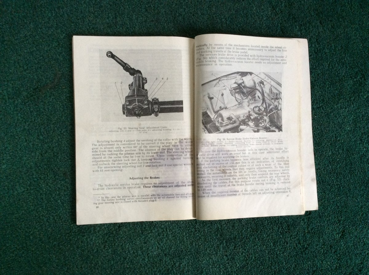 Moskvich Service Manual For Sale (picture 3 of 4)