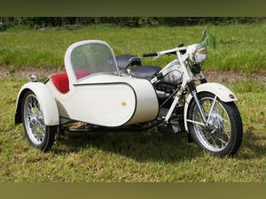Nimbus with sidecar in ivory white For Sale (picture 6 of 10)
