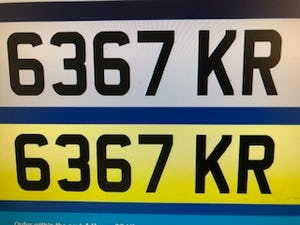 Kr  dateless plate For Sale (picture 1 of 4)
