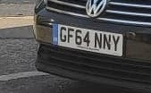 Picture of Selling GF64NNY registration plate For Sale